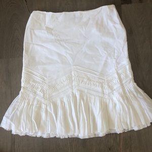 White Elie Tahari Pleated Skirt